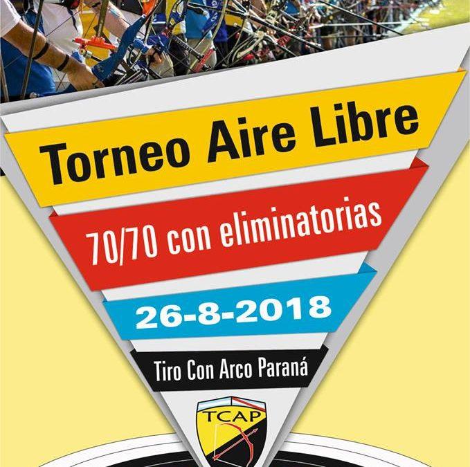 Torneo Aire Libre Rankeable – TCAP – 26/08/2018